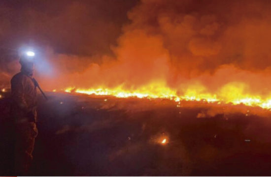 Incendio en tiradero de Coyula en Tonalá