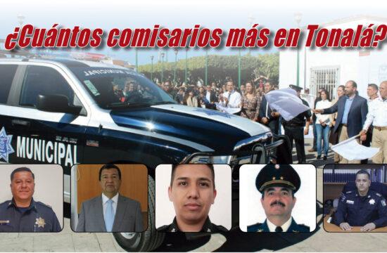 Cinco comisarios en Tonalá